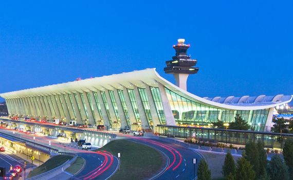 Dulles Terminal at Night